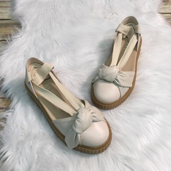 77ac5b69feb36a Host Pick Puma Fenty Bow Lace Up Creeper Sandal